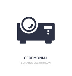 Ceremonial icon on white background simple vector