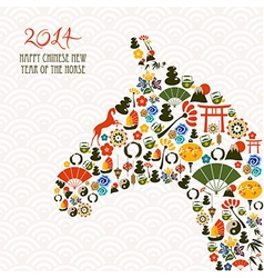 Chinese new year of the horse composition file vector