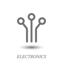 Circuit board logo vector image