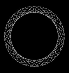 Circular spiral element abstract geometric circle vector