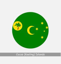 Cocos keeling islands round circle flag vector