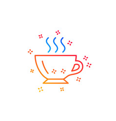 Coffee cup line icon hot drink sign vector