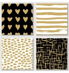 collections cute hand drawn seamless textures vector image