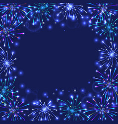 colorful firework frame vector image