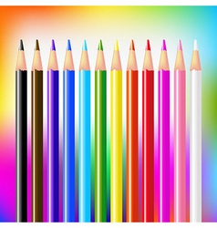 Colour Pencils On Bright Background vector