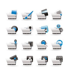 computer and phone icons vector image