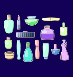 cosmetic accessories vector image
