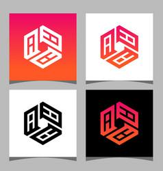 Creative initial letter aaa logo design concept vector