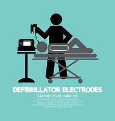 Defibrillator Electrodes Symbol vector