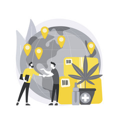 Distribution of hemp products abstract concept vector