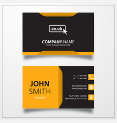 domain co uk icon business card template vector image