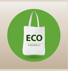 eco bag eco friendly ecology concept say no to vector image