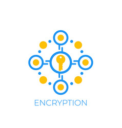 Encryption and data protection icon vector