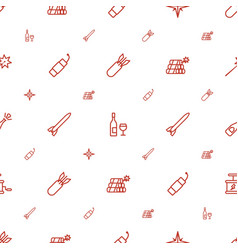 explosion icons pattern seamless white background vector image