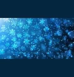 falling snowflakes christmas festive background vector image