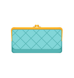 female light blue purse money and finance concept vector image