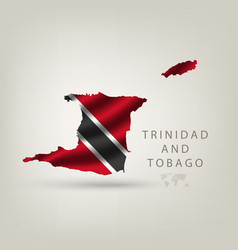 Flag of TRINIDAD AND TOBAGO as a country with a vector image