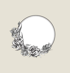 Floral frame background flower bouquet cover vector