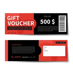 Gift voucher discount template design vector