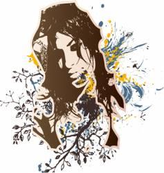 Girl grunge design vector