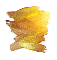 Gold texture paint stain hand drawn vector