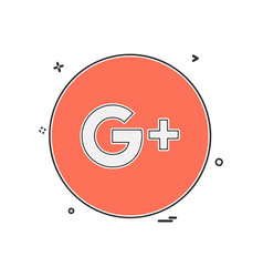 Google plus icon design vector