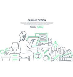 graphic design - modern line design style web vector image