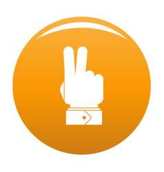 Hand hey icon orange vector