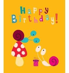 Happy Birthday card 6 vector image