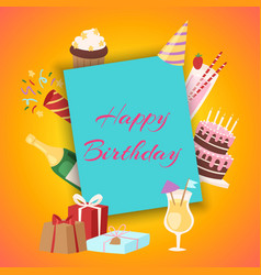 happy birthday party invitation vector image