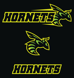 Hornets team mascot vector