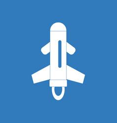 Icon flying rocket vector