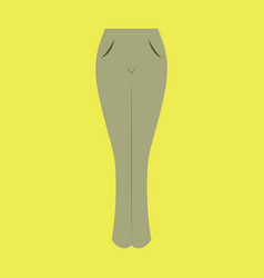 icon in flat design fashion clothes women jeans vector image vector image