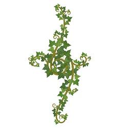 Ivy branch decor vector