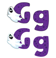 letter G ghost vector image