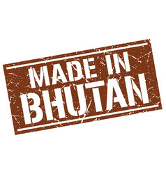 Made in bhutan stamp vector