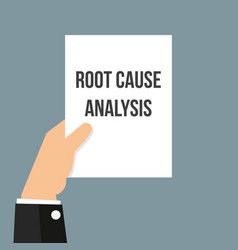 Man showing paper root cause analysis vector