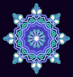 Mandala hand-drawn patterns round ornament vector