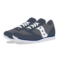 Mans sneakers icon on a white background vector