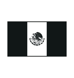 Mexico flag monochrome on white background vector