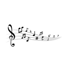music note ilustration vector image