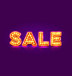 neon sign with text sale signboard banner vector image