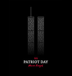 patriot day banner world trade center new york vector image