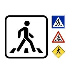 Pedestrian Symbol vector image
