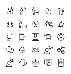 people and social mediacommunication icon set vector image