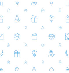 present icons pattern seamless white background vector image