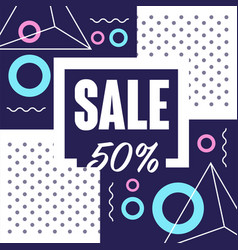 sale 50 percent off banner template design vector image