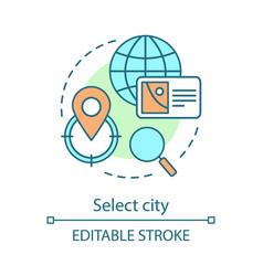 Select city concept icon vector
