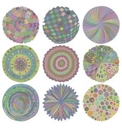 set colorful deco mandalas vector image