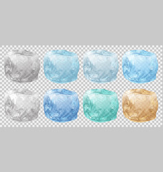 set of ice cubes vector image